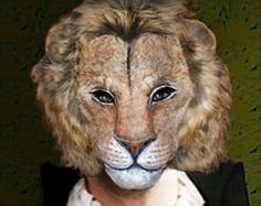 Items similar to Made to order Lion Nemean Paper Mask Paper mache Nemean Lion Mask Papier mache Lion Mask Face mask Paper mache Halloween mask on Etsy Paper Mache Mask, Paper Mask, Nemean Lion, Paper Mache Animals, Lion Mask, Felt Mask, Legendary Creature, First Photograph, Halloween Masks