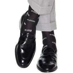 Dapper Classics Navy with Sky Blue Car Sock Linked Toe Patterned Socks, Dress Socks, Doc Martens Oxfords, Cotton Socks, Sock Shoes, Shoe Game, Dapper, Loafers Men, Oxford Shoes