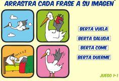 Escuela infantil castillo de Blanca: ARRASTRA CADA FRASE A SU IMAGEN