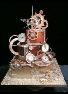 Awesome steampunk cake is awesome.