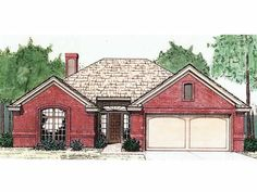 Cottage House Plan with 1239 Square Feet and 3 Bedrooms from Dream Home Source | House Plan Code DHSW49191