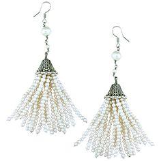 Orchira seed pearl tassel earring drop.