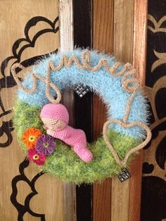 Wreath for baby fiocco nascita