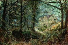 Autumn Glory: The Old Mill (1869)  John Atkinson Grimshaw. Leeds Art Gallery