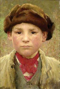 George Clausen (1852 – 1944, English)  'Farmer's Boy'
