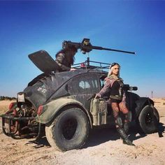 This Mad max type bug looks really badass and in its element.