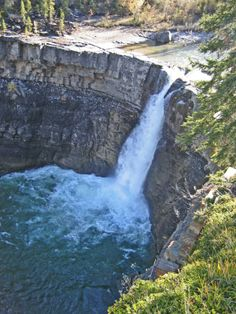 Camping information for Crescent Falls with map & directions, includes photo gallery of campground, near Nordegg in Alberta Places Ive Been, Places To Go, Go Camping, The Good Place, Photo Galleries, Waterfall, Canada, Earth, River