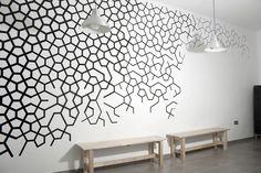 #geometry #wall. Interesting geometric pattern as well art.