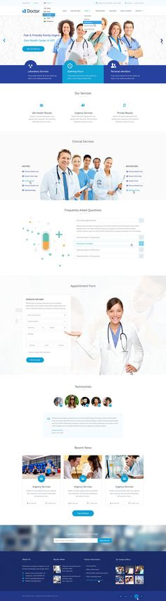 Buy Doctor - Health Clinical PSD Template by mustachethemes on ThemeForest. Update: E-commerce Pages What buyers said about our products Home Page Description Doctor – is a modern and unique P. Web Design Examples, Flat Web Design, Web Ui Design, Web Design Agency, Design Design, Website Layout, Website Themes, Web Layout, Website Ideas