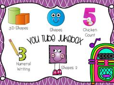 FREE Math Jukebox!  Here are some songs that go perfectly with our Guiding Kinders: Math Unit 1. The videos are all on You Tube and I put the links into the file below to make it easy for you.  All you have to do is click on the picture to download the file.  Kindergarten