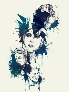 The Faces Project by Daryl Feril, via Behance