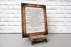 Wedding Vows Leather Anniversary Gift 3rd personalized art gifts for him for her wedding vow art wedding song art