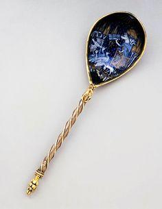 Silver spoon, South Netherlandish, ca 1430, Museum of Fine Arts, Boston.