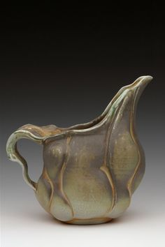 Gayle Singer  |  Porcelain Pitcher (8x9x5), soda-fired to ^10.