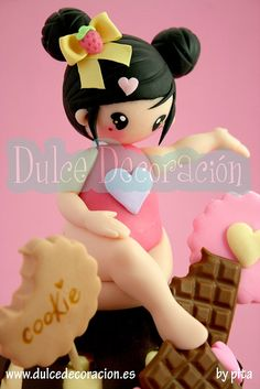 Muñeca concurso Chic Kawaii by Dulce decoración (modelado - tartas decoradas), via Flickr