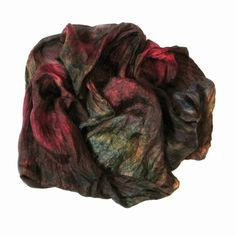 OOAK Silk scarf ruffled Hand Dyed Night Dream by Econicashop