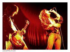 Led Zeppelin in Palais de Sports, Lyon, France. March 26, 1973.