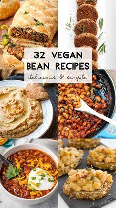 Easy Bean Recipes, Vegan Bean Recipes, Recipes Using Beans, Pinto Bean Recipes, Quick Vegan Meals, Vegan Meal Prep, Vegetarian Recipes Dinner, Vegan Dinners, Dinner Recipes