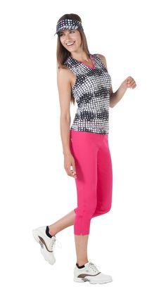 Chervo ALLIBRI SunBlock Polo o.A DA XVI Lady, Capri Pants, Polo, Fashion, Woman, Moda, Capri Trousers, Polos, Fashion Styles