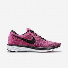 new products 38634 909f1 Nike Women's Pink Foil/Pink Pow/Sunset Glow/Black Flyknit Lunar 3 Running