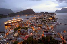 Alesund, a Sea Port in Norway, photo taken by Unknown. #Photography #Travel #Art #Scenery