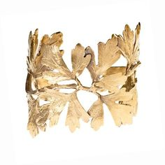 Gingko Leaf Cuff by Alkemie