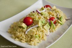 Food and Then Some: Avokado-pestocouscous / #Avocado #Pesto #Couscous