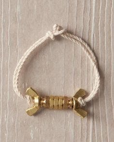 Brass-Nut Bracelet How-To -- Be inspired by the inexpensive everyday materials you find in a hardware store