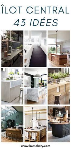 Open Kitchen, Kitchen Island, Central Island, Küchen Design, Kitchen Remodel, Sweet Home, Inspiration, House, Home Decor