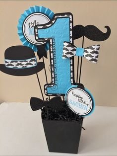 Custom Little Man Mustache Birthday Party by DivaDecorations
