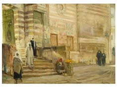 """A Mosque in Cairo,"" Henry Ossawa Tanner, 1897, oil on canvas, collection of William M. Lewis Jr. and Carol Sutton Lewis."