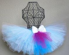 Tutu Skirt - Frozen Blue and White Winter Wonderland