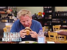 Gordon Can't get 'Cowboy' Burger in his Mouth - Kitchen Nightmares