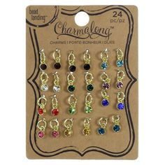 Charmalong™ Mini Crystal Charms by Bead Landing™