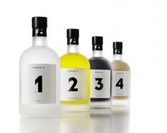 Graphic design, bottle labels