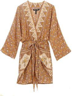 Winter Kate Elephant Jaya Wrap Dress