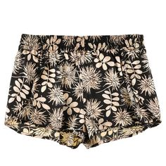 Stella Mccartney Ilda Driving Short ($88) ❤ liked on Polyvore featuring shorts, bottoms, pants, short, print shorts, palm tree shorts, patterned shorts, short shorts and silk shorts