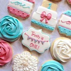 1st birthday cookies