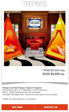 The Price Is Right - Post and Grant Price Is Right, Menlo Park, Teepees, Sales Tax, Pillow Sale, Floor Cushions, Ea, Pepper, Mango