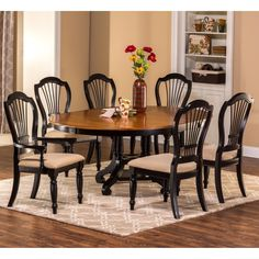 Wilshire 7-Piece Round Dining Set by Hillsdale