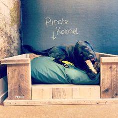 Hondenmand van steigerhout klein/middel/groot (3220141400) | Hondenmanden | JORG`S Houten Meubelen