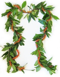 Maile and Kukuna-o-ka-la ~ the perfect combination of mountain and sea ~ fragrant maile vine from the rainforest entwined with the brittle orange flowers that grow near the ocean.