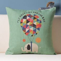 Animal multicolour throw pillow