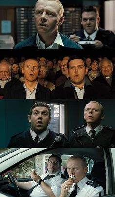 """Hot Fuzz.  """"I don't remember a time when I didn't want to be a police officer... apart from the summer of 1979 when I wanted to be Kermit the Frog. It all started with my Uncle Derek. He was a Sergeant in the Met. He bought me a police pedal car when I was five. I rode around in it every second I was awake - arresting kids twice my size for littering and spitting. I got beaten up a lot when I was young, but it didn't stop me. I wanted to be like Uncle Derek."""""""