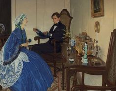 Leonard Campbell Taylor (1874-1969) A Blue Dress.