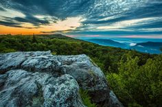 Early summer sunrise in Dolly Sods Wilderness in Monongahela National Forest in West Virginia by Randall Sanger Photography