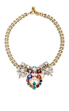 One Of A Kind 50 Year Necklace With Multicolored Stones by Lulu Frost for Preorder on Moda Operandi