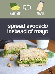 AVOCADO instead of MAYONAISE
