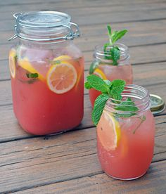 Boozy Watermelon Mint Lemonade (So refreshing! Perfect for summer and easy to make!)