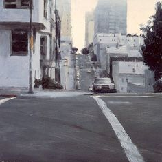 Urban Cityscape Paintings by Ben Aronson Urban Landscape, Landscape Art, Landscape Paintings, Landscapes, Traditional Paintings, Contemporary Paintings, Environment Painting, City Sketch, Urban Painting